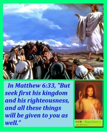 seek ye first his kingdom and rightousness KJOH green border